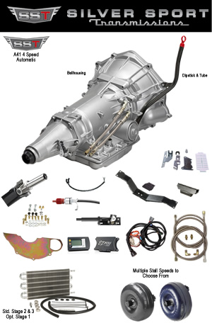 A41 4L60E Automatic conversion kit for 1967-1969 Camaro & Firebird