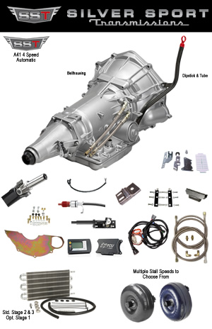 A41 4L60E Automatic conversion kit for 1968-1972 GM A Body: Chevelle, Cutlass, Skylark, GS, 442, GTO, Tempest, Monte Carlo, El Camino, LeMans, Grand Prix