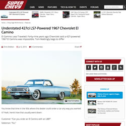 Understated 427ci LS7-Powered 1967 Chevrolet El Camino