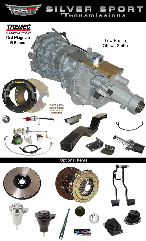 Silver Sport Transmissions Tremec Magnum 6-Speed PerfectFit Kit for GM A-body