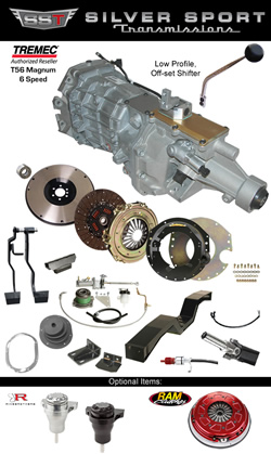Silver Sport Transmissions Tremec Magnum PerfectFit Kit for 1964-1967 GM A Body: Chevelle, Tempest, GTO, El Camino, LeMans, Skylark, 442, Cutlass, Beaumont, Special