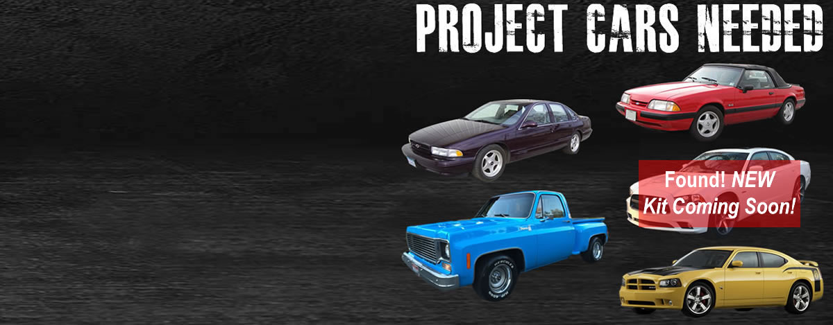Latest Project Cars Charger, Impala, Square Body, Fox Body