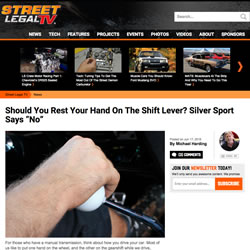 Resting hand on shifter
