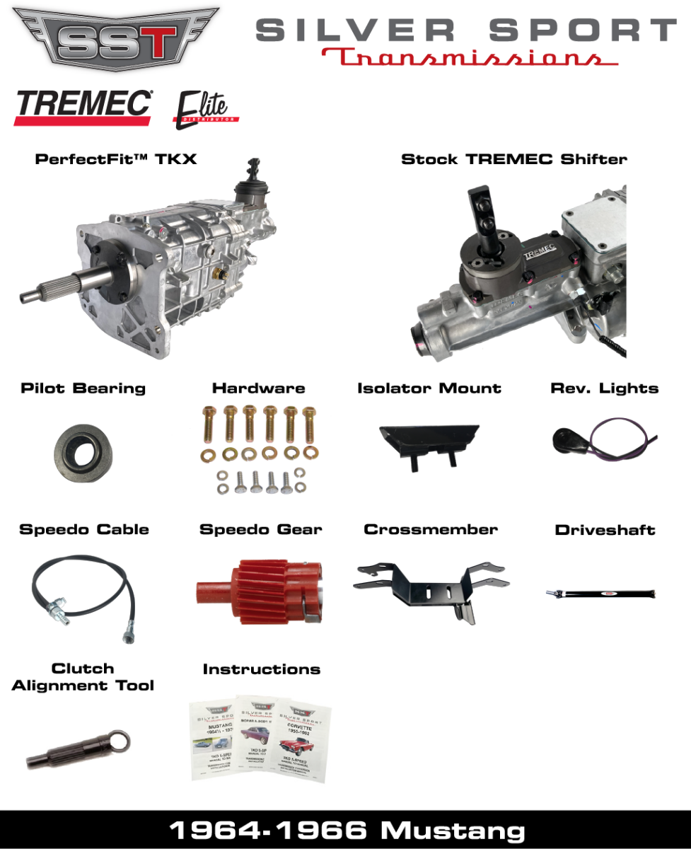 TREMEC TKX PerfectFit Kit for 1964-1966 Mustang or Cougar
