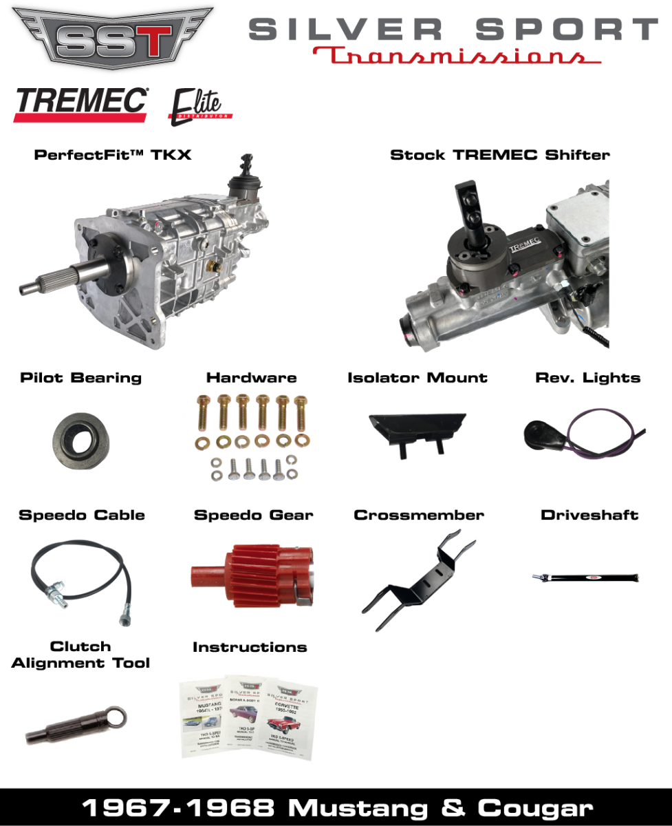 TREMEC TKX PerfectFit Kit for 1967-1968 Mustang or Cougar