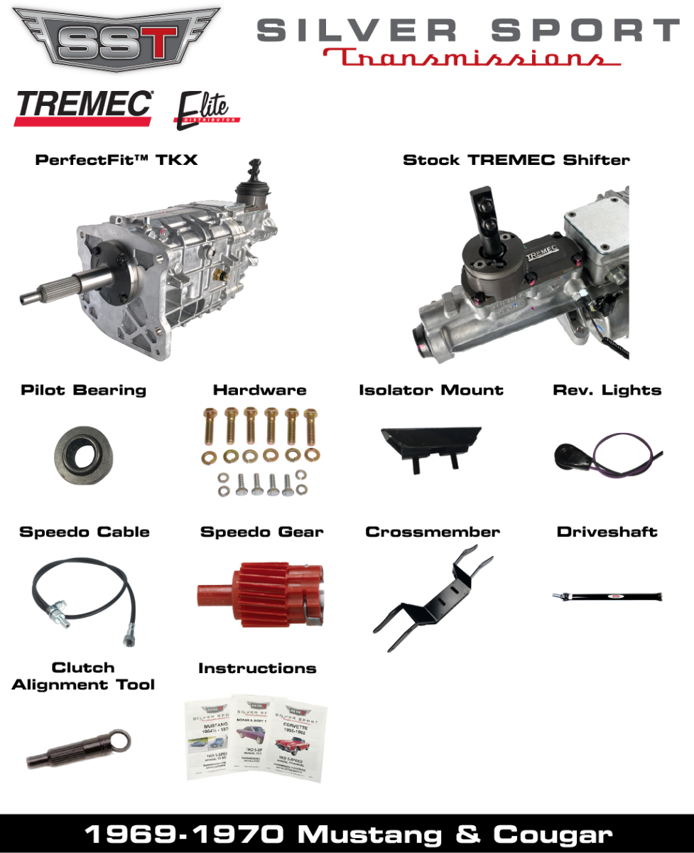 TREMEC TKX PerfectFit Kit for 1969-1970 Mustang or Cougar