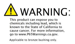 Prop 65 Bronze contains lead